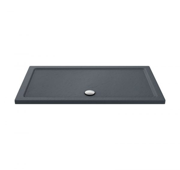 slimline shower tray slate effect